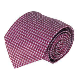 Red, Gray Small Diamonds Men's Tie 4857-0