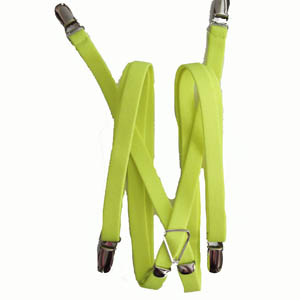 "Florescent Yellow 1/2""x42"" Suspenders 0897-0"
