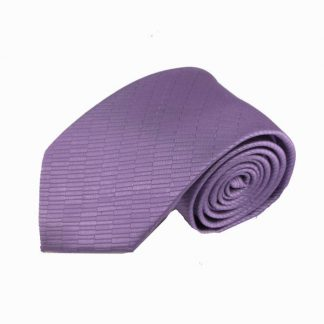 Lavender Solid Small Rectangle Weave Men's Tie 10503-0