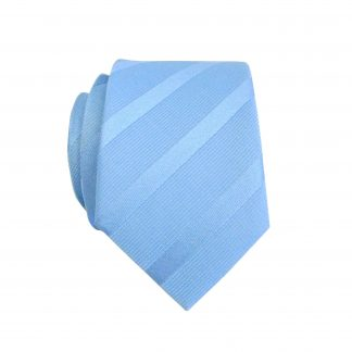 Light Blue Tone on Tone Stripe Skinny Men's Tie 10664-0