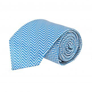 Blue, Gray Zig Zag Stripe Men's Tie 10816-0