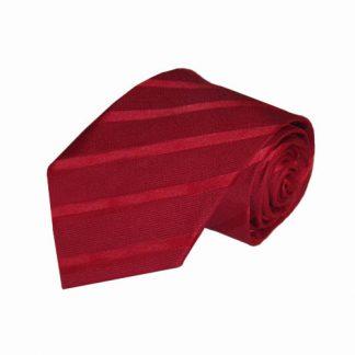 "63"" XL Red Tone on Tone Stripe Men's Tie 11207-0"