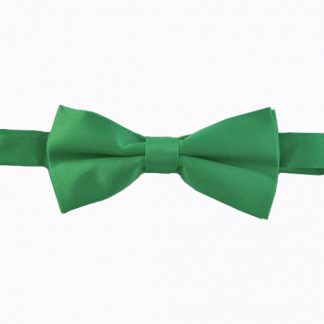 "Green 2"" Solid Band Bow Tie 11270-0"