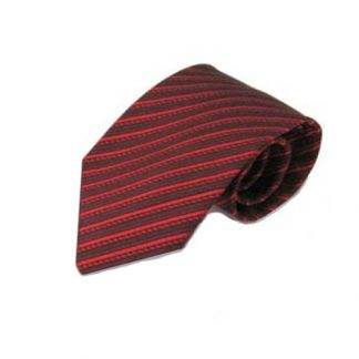 Red, Burgundy Stripe Men's Tie 11340-0