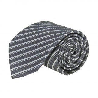 Charcoal, Gray Stripe Men's Tie 11342-0