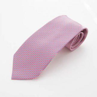 Pink, Blue Small Diamond Pattern Men's Tie 11355-0