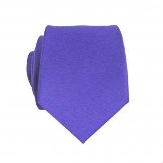 Purple Solid Skinny Men's Tie 1583-0