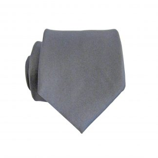 "49"" Charcoal Solid Boy's Polyester Tie 1645-0"