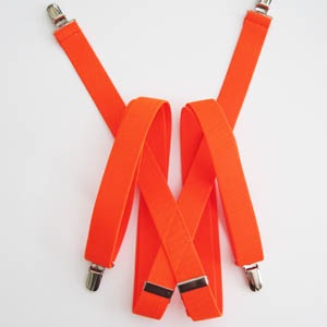 "Florescent Orange 1x48"" Solid Suspenders 2063-0"