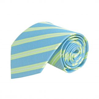 Green, French Blue Stripe Men's Tie 11349-0
