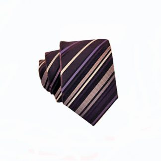 Purple, Black & Gray Stripe Skinny Men's Tie 2363-0