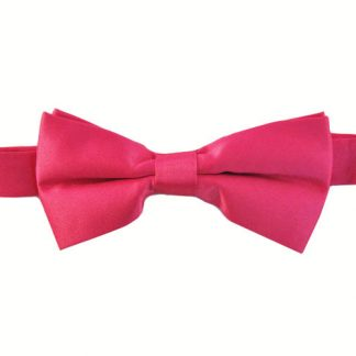 "Fucshia Solid 2"" Banded Bow Tie 2932-0"