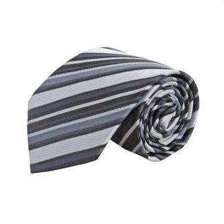 "63"" XL Gray, Black Stripe Men's Tie 3219-0"
