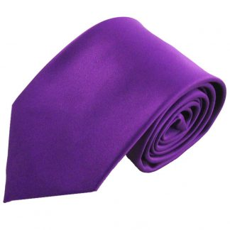 Purple Solid Men's Tie w/ Pocket Square 3234