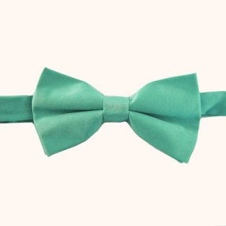 "Turquoise Solid 2"" Banded Bow Tie 3484-0"