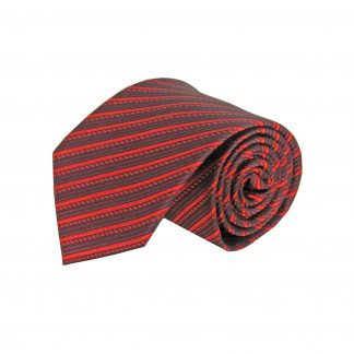 "63"" XL Red, Burgundy Stripe Men's Tie 3615-0"