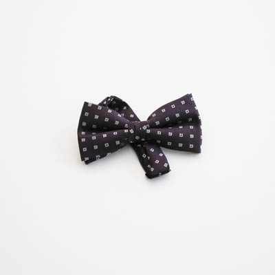 "Purple, Gray Squares 2"" Band Bow Tie 3669-0"