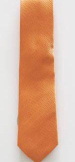 "49"" Boys Solid Orange/Salmon Tone on Tone Rectangle Tie 3690-0"