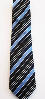 "49"" Boy's Black/Blue/Navy Stripe Tie 3894-0"