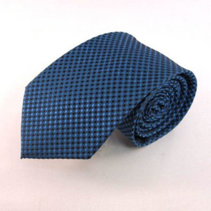 Blue, Teal Small Square Men's Tie 4135-0