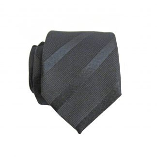 Black Tone on Tone Stripe Skinny Men's Tie 4183-0
