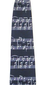 14'' Boys Clip-on Music Staff Microfiber Tie 4201-0