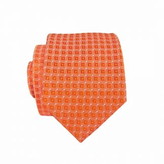 Orange Diamonds Skinny Men's Tie 4564-0