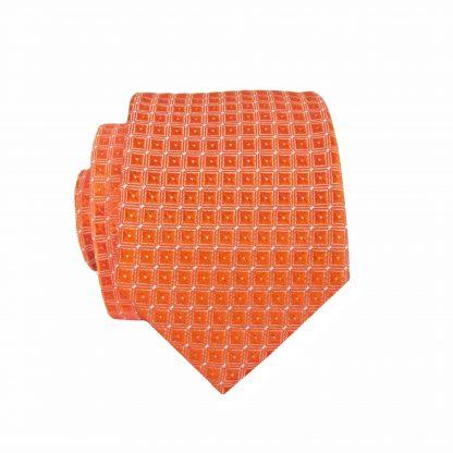 Orange Diamonds Skinny Men's Tie 4564-0