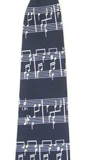 "11"" Boy's Clip-on Music Staff Tie 4696-0"
