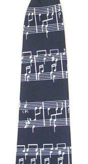 """11"""" Boy's Clip-on Music Staff Tie 4696-0"""