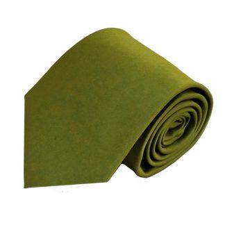 Olive Solid Men's Tie w/ Pocket Square 4852
