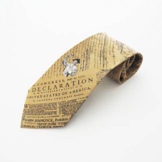 Declaration of Independence Gold Silk Men's Tie 5064-0