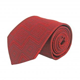 Red Zig Zag Diamond Tone on Tone Men's Tie 5186-0