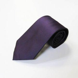 Dark Purple Solid Men's Tie w/ Pocket Square 5229-0