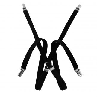 "1/2"" Black Skinny Men's Suspenders 5354-0"