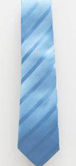 "49"" Boys Light Blue Tone on Tone Stripe Tie 5601-0"