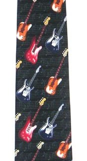 Electric Guitars Men's Tie 5910-0