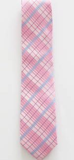 "49"" Boys Pink/Blue Plaid Tie 6347-0"