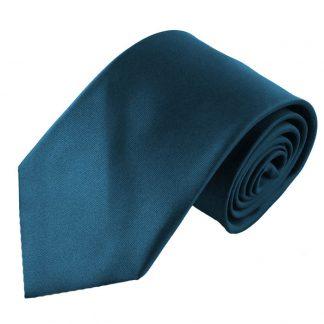 Teal Solid Men's Tie w/ Pocket Square 6570