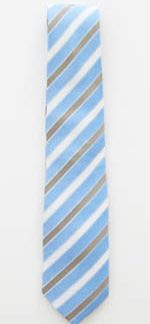 "49"" Boy's Light Blue/White/Khaki Stripes Tie 7524-0"