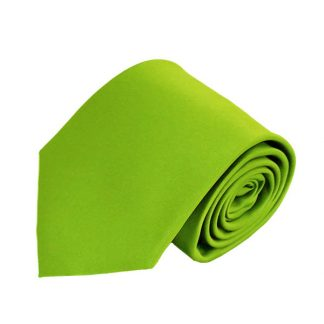 Lime Solid Men's Tie w/ Pocket Square 8330
