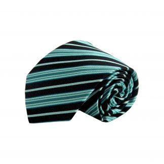 Black, Teal Stripe Men's Tie 8497-0