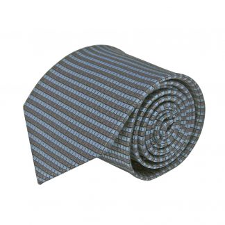 Gray, French Blue Small Square Men's Tie 8577-0