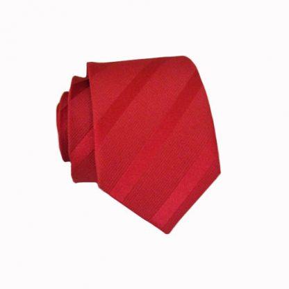 Red T/T Stripe Skinny Men's Tie 8600-0