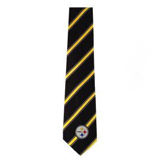 NFL Pittsburgh Steelers Black & Yellow Stripe Men's Tie 8638