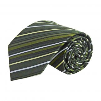 Hunter Green, Black, Green Stripe Men's Tie 8816-0