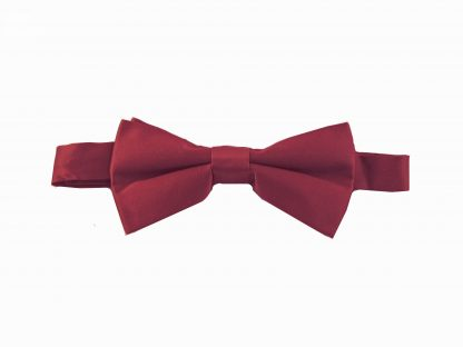 "Burgundy Solid 2"" Banded Bow Tie 883-0"