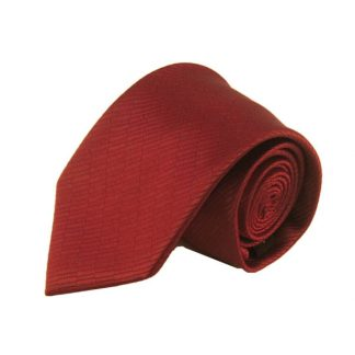 Red Solid Tone on Tone Rectangle Men's Tie 8972-0