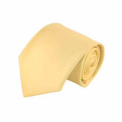 Light Yellow Solid Men's Tie w/ Pocket Square 9183-0