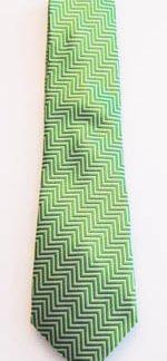 """49"""" Lime/Gray Zig Zag Boy's Tie 9210-0"""